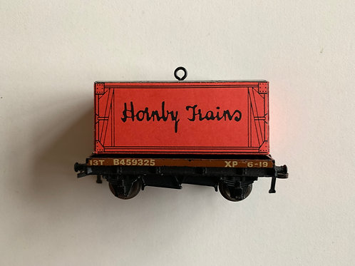 32085 D1 LOW SIDED WAGON WITH HORNBY TRAINS CONTAINER LOAD