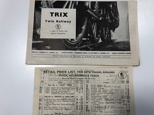TTR TRIX TWIN RAILWAY - 1957 CATALOGUE & PRICE GUIDE