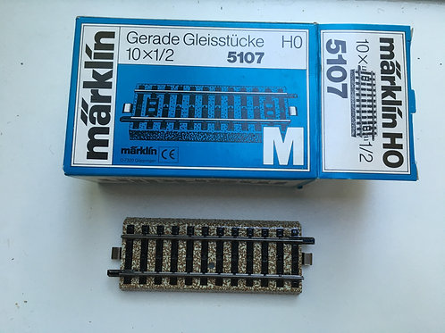 MARKLIN M 5107 10x HALF LENGTH STRAIGHT