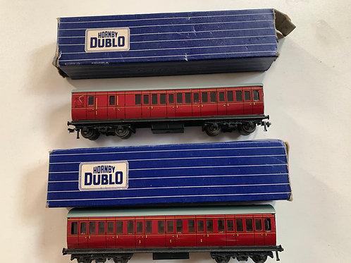 32092 & 32093 B.R. MAROON COACHES 1ST/3RD & BRAKE 3RD - BOXED