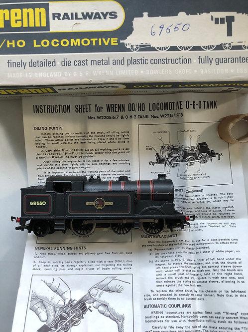 W2216 BR 0-6-2 BLACK N2 TANK LOCOMOTIVE 69550