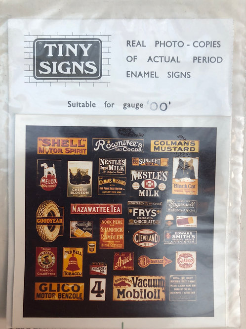 TINY SIGNS - No 4 PERIOD ADVERTISING SIGNS (REAL PHOTO QUALITY)