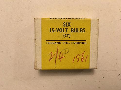 6 x 15-VOLT BULBS (FOR SIGNALS ETC)- BOXED