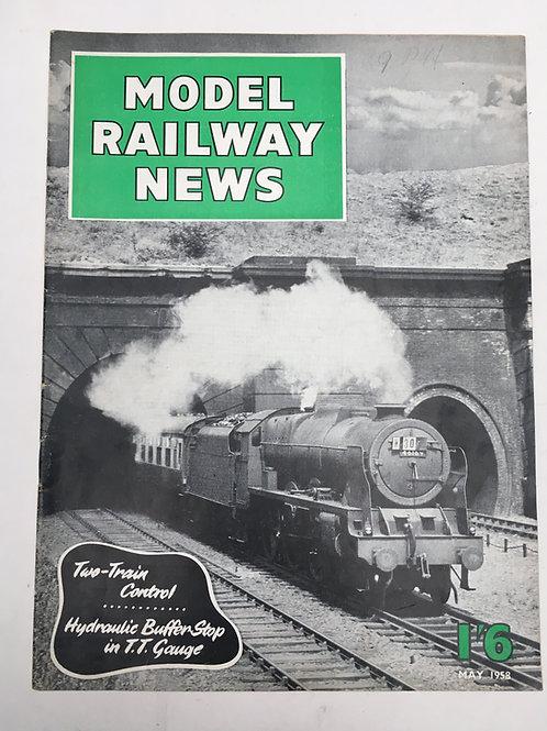 MODEL RAILWAY NEWS - MAY 1958