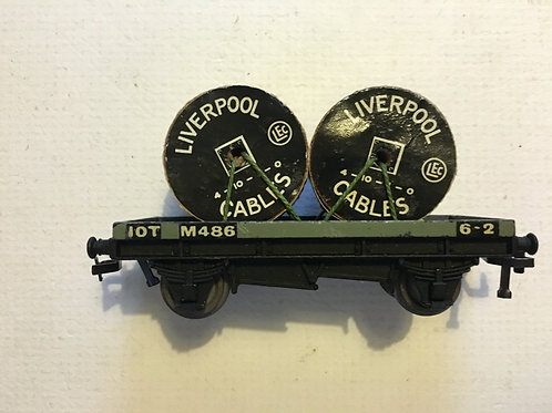 32086 D1 LOW SIDED WAGON WITH CABLE DRUMS