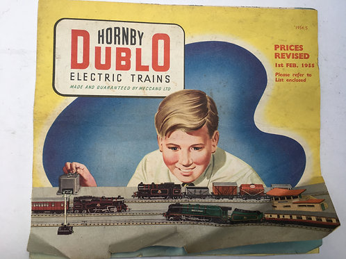 HORNBY DUBLO - ELECTRIC TRAINS - 1954/55 FEB REVISED EDITION POSTER PRICE GUIDE