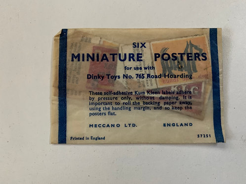 DINKY 765 SIX MINIATURE POSTERS
