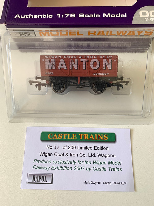 7 PLANK WAGON MANTON WIGAN COAL WORKSOP - LIMITED EDITION 38
