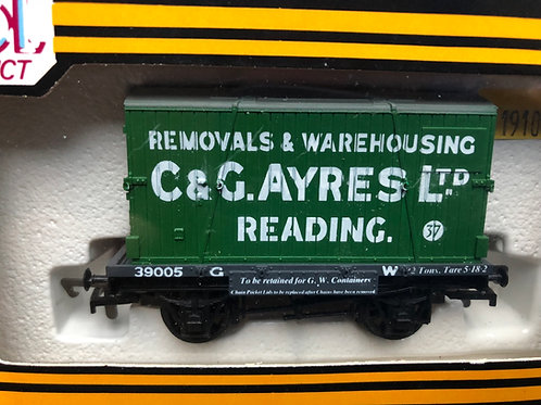 B91 - GWR CONFLAT 39005 & C & G AYRES CONTAINER - READING