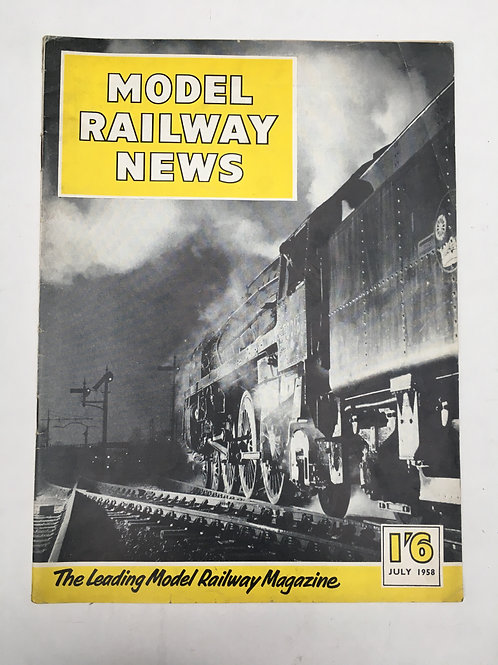 MODEL RAILWAY NEWS - JULY 1958