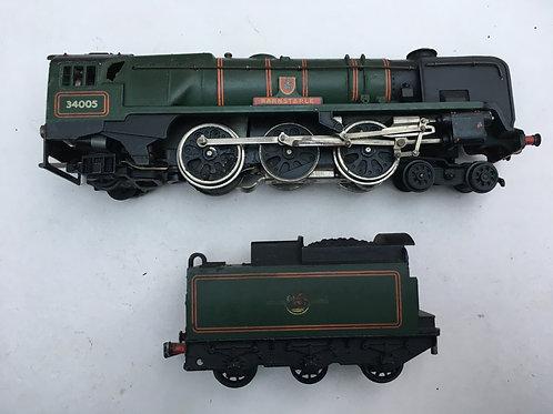3 RAIL - 2235 4-6-2 WEST COUNTRY LOCO BARNSTAPLE & TENDER