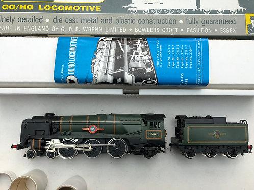 W2238 4-6-2 CLANLINE LOCOMOTIVE & TENDER 35028 - BOXED