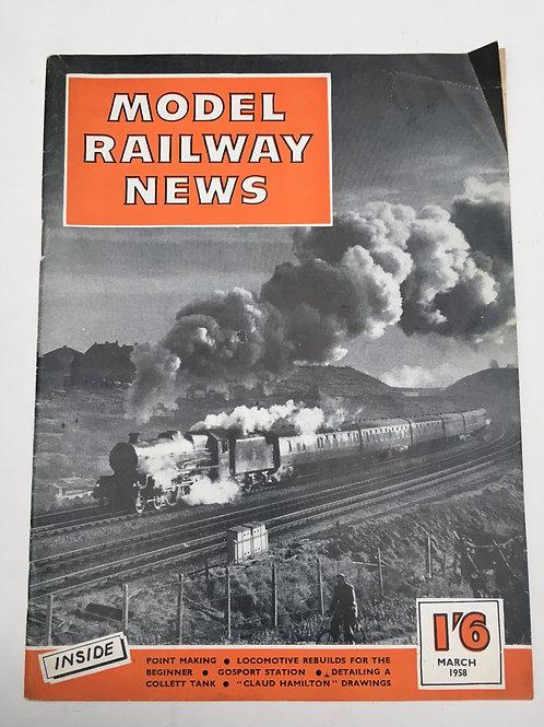 MODEL RAILWAY NEWS - MARCH 1958