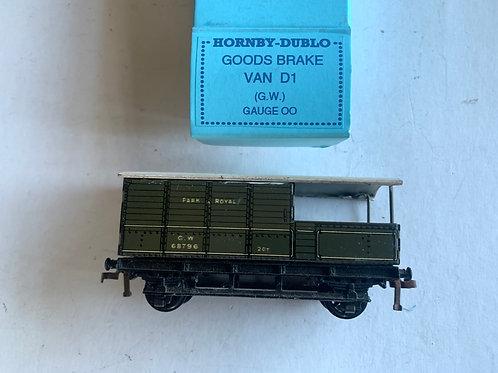 32047 D1 GOODS BRAKE VAN G.W.  68796 PARK ROYAL - repro box