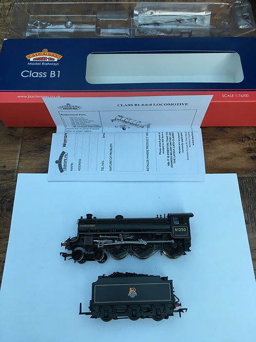31-714 B1 61250 BR BLACK A HAROLD BIBBY LOCOMOTIVE & TENDER