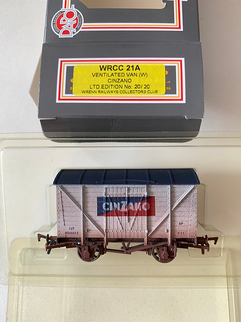 WRCC21A WRENN COLLECTORS CLUB - CINZANO VENT VAN WEATHERED - RARE WITH LABEL