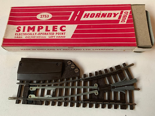 2753 SIMPLEC ELECTRICALLY OPERATED LEFT HAND POINT - BOXED