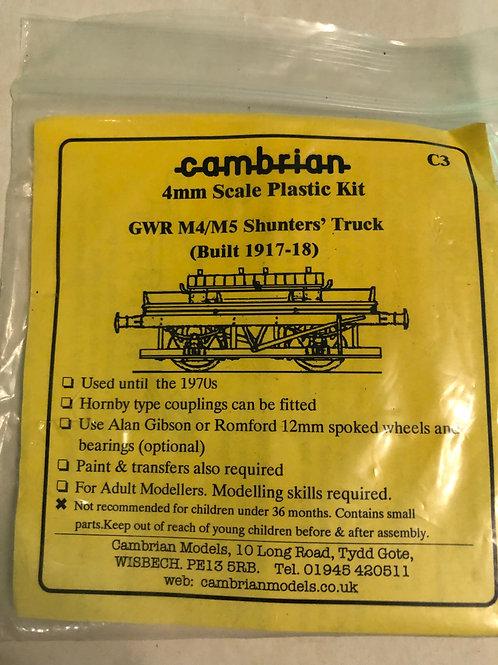CAMBRIAN - C3 G.W.R. M4/M5 SHUNTERS' TRUCK