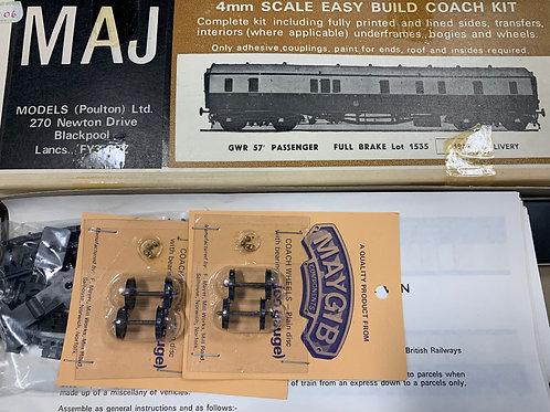 MAJ MODELS - GWR 57' PASSENGER FULL BRAKE Lot 1535