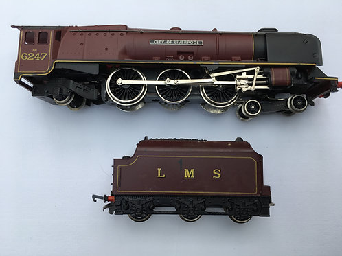 W2242 LMS MAROON 4-6-2 CITY OF LIVERPOOL LOCOMOTIVE & TENDER