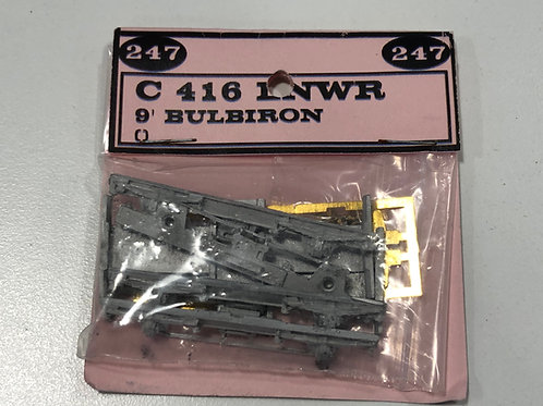 247 DEVELOPMENTS - C 416 LNWR 9' BULBIRON BOGIES