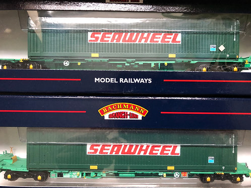 37-301B 2x INTERMODAL BOGIE WAGONS WITH SEAWHEEL CONTAINERS