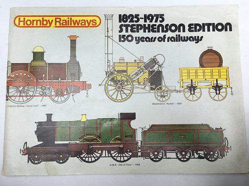 HORNBY RAILWAYS CATALOGUE - STEPHENSON EDITION 1975