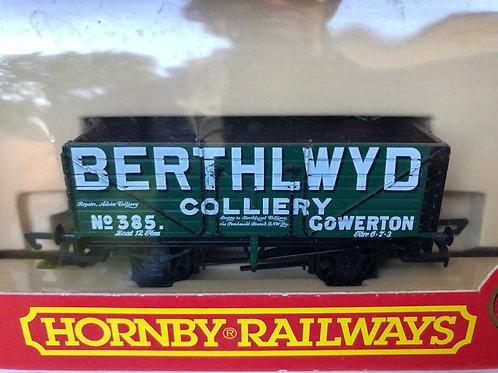 R.6068 5 PLANK WAGON BERTHLWYD COLLIERY - GOWERTON
