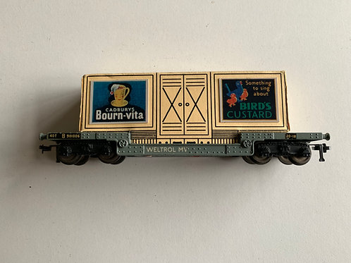 32053 40 TON BOGIE WELL WAGON WITH CONTAINER LOAD