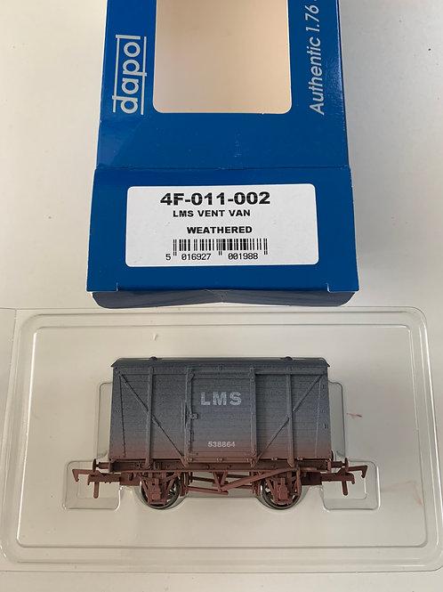 4F-011-002 LMS 538864 VENT VAN WEATHERED