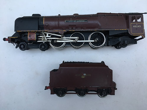 CITY OF LONDON LOCOMOTIVE AND TENDER UNBOXED