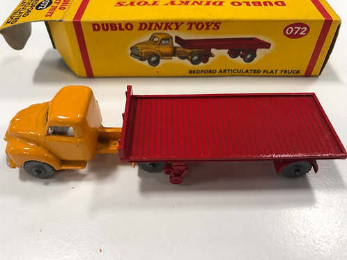 DINKY DUBLO 072 BEDFORD ARTICULATED FLAT TRUCK - BOXED