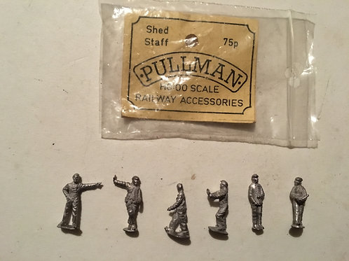 PULLMAN SHED STAFF (6 x METAL FIGURES)