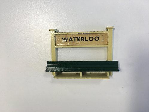 WARDIE MASTER MODELS WATERLOO SIGN WITH PLATFORM SEAT / BENCH
