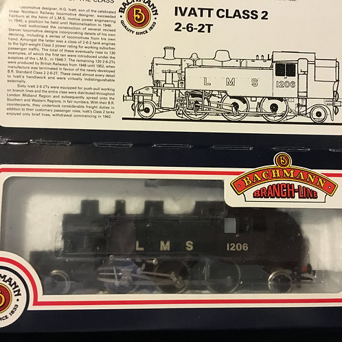 31-453 IVATT 2-6-2 TANK 1206 L.M.S. UNLINED BLACK
