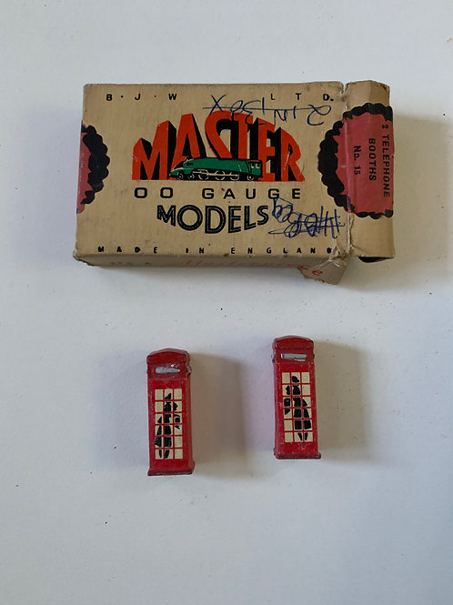 WARDIE MASTER MODELS No 15 2 x TELEPHONE BOOTHS