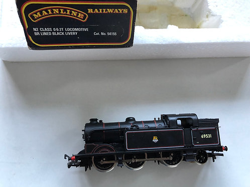 54155 N2 CLASS 0-6-2T TANK LOCO BR BLACK No 69531