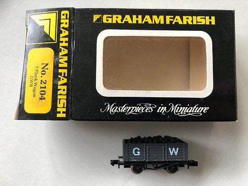 2104 GWR 7 PLANK WAGON 102784 - COAL ADDED