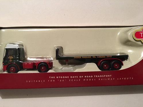DG186001 ERF LV FLATBED TRAILER EDDIE STOBART