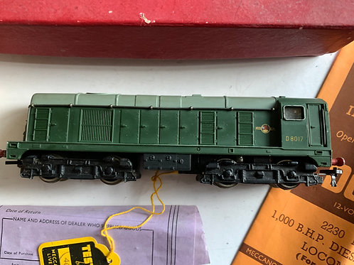 2230 1,000 B.H.P. DIESEL ELECTRIC LOCOMOTIVE D8017