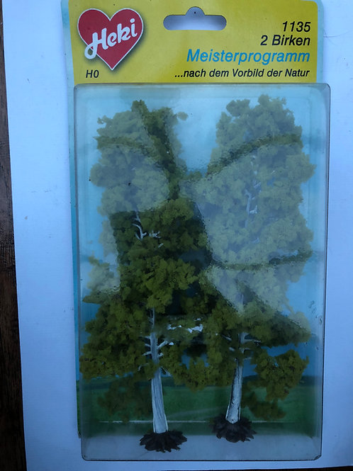 HEKI - 1135 HO/OO GAUGE - 2 x BIRCH TREES 18CM