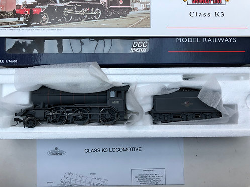 32-275K CLASS K3 61811 BR LINED BLACK LOCO & TENDER - WEATHERED