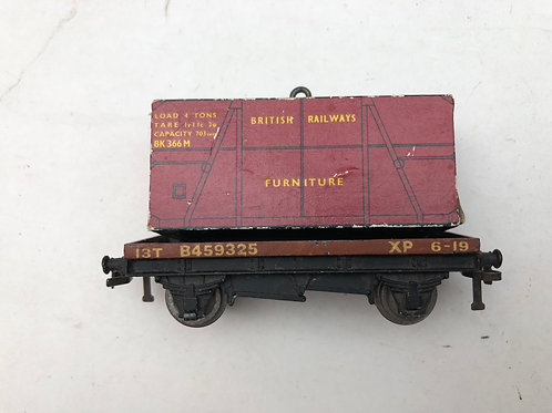 32087 FLAT BED WAGON WITH FURNITURE LOAD