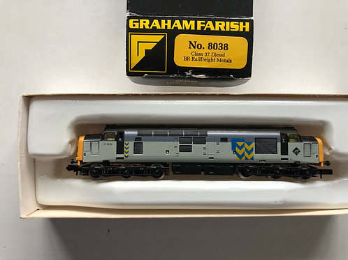 8038 CLASS 37 DIESEL LOCOMOTIVE 37906 BR RAILFREIGHT METALS