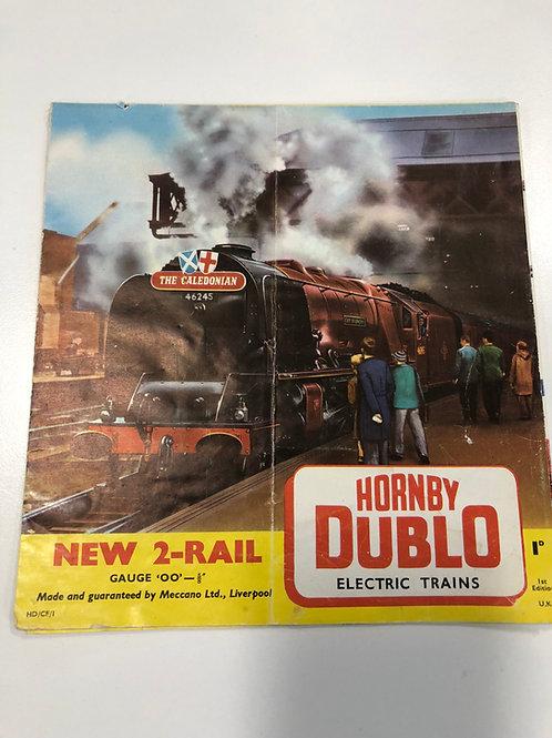 HORNBY DUBLO - ELECTRIC TRAINS - 2-RAIL CATALOGUE 1ST EDITION 1959