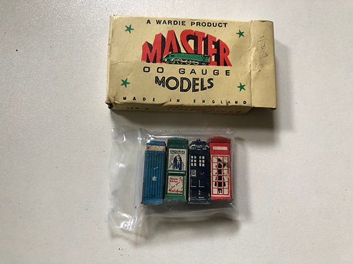 WARDIE MASTER MODELS 4 x POLICE,TELEPHONE, ENQUIRIES BOXES