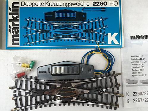 MARKLIN K 2260 DOUBLE SLIP SWITCH