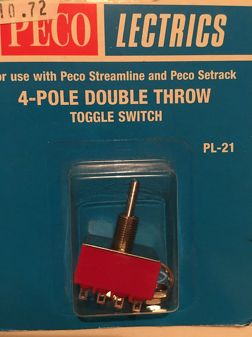 PL-21 4-POLE DOUBLE THROW TOGGLE SWITCH