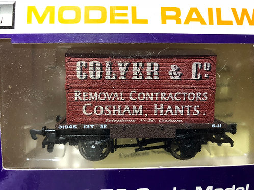 SR FLAT BED WAGON WITH COLYER & CO CONTAINER LOAD - COSHAM, HANTS
