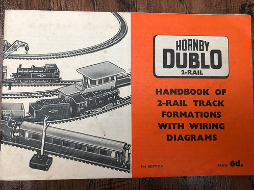 HORNBY DUBLO - HANDBOOK OF 2-RAIL TRACK FORMATIONS WITH WIRING DIAGRAMS - 2ND ED